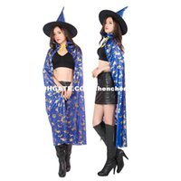 Wholesale Plastic Witch - Protagonist cosplay cos Factory direct dance costume party vampire witch witches wizard cloak Blue
