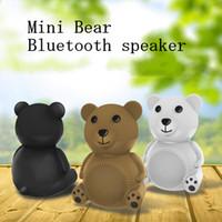 Wholesale Bear Speakers - Mini Bear Bluetooth Speaker Portable Wireless Speakers Music Loudspeaker Support TF AUX USB FM Play Speaker Nice Gift In Stock