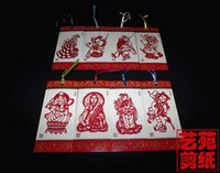 Wholesale Chinese classics Journey to the West Bookmarks of Sets Handicrafts Paper Cutting Creative Ethnic Gift Sets