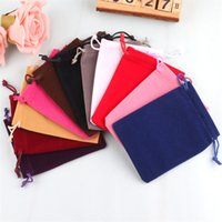 Wholesale velvet necklace gift boxes - 5x7 cm Fashion High-Grade For Jewelry Ring Necklace Birthday Christmas Gift Bags Multi-Colored Velvet Bag Jewelry Box Factory Wholesale