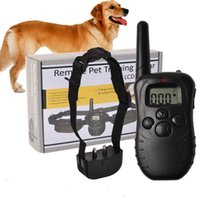 Wholesale electronic remote dog training collar - Electronic Dog Collar Remote Control Anti Bark Dog Shock Training Collar With Lcd Display 998d Included 2 Aaa Batteries