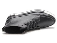 Wholesale Korean Shoes For Male - Tangnest New 2017 Autumn Men Shoes Man Fashion Microfiber Flats Shoes Korean Style Lace Up High Top Footwear For Male XMB532