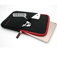 Wholesale 8inch Tablet Covers - sleeve case bag with Pocket for ipad mini 7inch tablet pc 8inch Notebook Soft Protect Cloth Bag Pouch Cover Case 7inch tablet bag