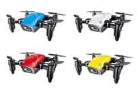 Wholesale Remote Controlled Flight - S9W 2.4G 4CH 0.3MP HD Camera Mini Helicopter WIFI FPV Altitude Hold Flight Planning Foldable RC Quadcopter Selfie Drone 5pcs DHL