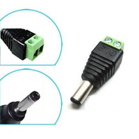 Wholesale Bnc Adapter Cable - DC 5.5 x 2.1mm Power Male Jack Adapter Cable Plug Connector for CCTV   LED LED UTP Balun Connectors bnc 2000pcs lot