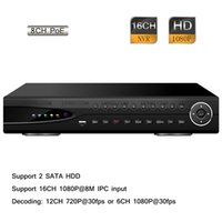 Wholesale Home Security Cctv 16ch - Home 16CH H.264 HD 1080P 8 POE CCTV Security Surveillance Network NVR P2P 2 SATA