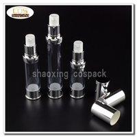 Wholesale 15ml Airless Cosmetic Bottles - ZA218-15ml plastic airless cosmetic pump bottles, empty cosmetic airless bottle 0.5oz, Eye Serum bottle with airless pump