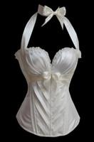Wholesale Sexi Black - Wholesale-Womens bridal corsets plus size,white steel boned underbust corset,sexi corset dress women