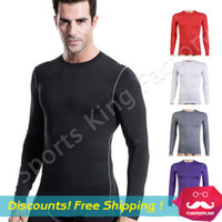 Wholesale Cycling Shirts Wholesale - Outdoor climbing Men sports long sleeved t shirt Wicking fast drying quick-drying breathable Running Cycling fitness jerseys