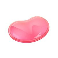 Wholesale Resting Heart - Quality Wavy Comfort Gel Computer Mouse Hand Wrist Rests Support Cushion Pad Fashion Soft Silicone Heart-shaped Wrist Pad Bracer
