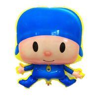 Wholesale Pocoyo Toys - Free Shipping Wholesale 10PCS Aluminum Foil Balloons Cartoon Pocoyo Boy Balloon