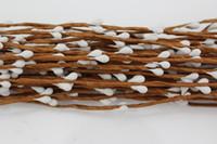 hastes de berry venda por atacado-Decorativo 10 Cores 40 cm Diy Eco Friendly Mat Mat Berry Haste Para Arrangemanet Floral Pulseira de Casamento Diy Coroa de Flores Artificiais