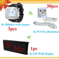 Wholesale Buzzer Call System - Long range wireless hospital nurse call system With Center Display 3 wrist watches for 3 nurse 30 nurse call buzzers