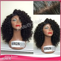 Wholesale Blonde Black Mix Cosplay Wigs - Full lace human hair wigs curly brazilian wig lace front wig glueless silk base with baby hair