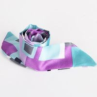 Wholesale Korean Silk Shawl - Wholesale-2015 Korean version of the diamond embroidered silk scarves silk scarf shawl slender models   color random hair