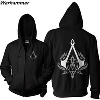 Wholesale Black Unity - New Assassin's Creed Unity Mens Fashion Hoodie Sweatshirt Zipper Up EU Size Black 2XL Hooded Teenager Casual Fleece Cotton Pullover Jackets