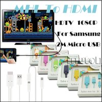 Wholesale Mhl 2m Micro Usb - HDMI Cable Full HD 1080P Micro USB MHL To HDMI 6.5 Feet  2M Adapter Converter Phone Digital Cable For Samsung with box