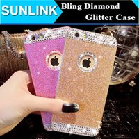 Wholesale diamond phone case diy - Hot Luxury Shinny Crystal Diamond Glitter PC Back Cover DIY Case For APPLE iPhone 6 6s 6plus Bling Deluxe Shell Skin Cell Phone Cases