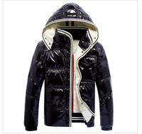 abrigos gruesos para hombre al por mayor-Envío gratis Classic Men Casual pato blanco abajo chaqueta abajo abrigo nuevo Mens invierno exterior gruesas abrigos outwear chaquetas hombre parkas
