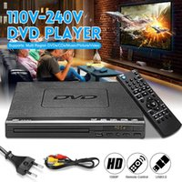 Wholesale usb vcd player mp3 resale online - Mini USB Portable Multiple Playback DVD Player ADH DVD CD SVCD VCD MP3 Disc LED Display Player Home Theatre System V V