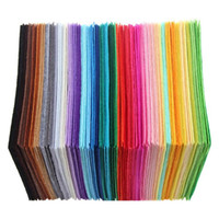 ingrosso diy ha sentito artigianato-40pcs / set colorato tessuto non tessuto in poliestere feltro tessuto fai da te Bundle per cucito bambola fatta a mano artigianale di spessore Home Decor