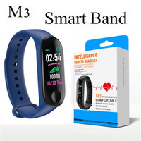Wholesale Fitness Smart Bracelet for Xiaomi Fitness Tracker M3 Smart Watch with Real Heart Rate for Apple Fitbit Android Cellphones with Retail Box