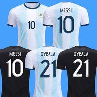 shirt jersey messi achat en gros de-2019 argentine maillots de football maillot de foot DYBALA soccer jersey DI MARIA BIGLIA AGUERO maillot de foot maillot de football américain copa america