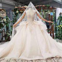 motifs de robe de mariage achat en gros de-2019 été dernières robes de mariage sans manches o cou fermeture à glissière dos à volants cristal dentelle applique modèle sexy robes de mariage vintage jardin