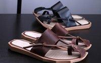 ingrosso sandali in cotone marrone-Sandali gladiatore 2019 neri marroni Fashion Design estirpanti cinghie Estate Casual Beach Pantofole Scarpe in pelle Italia Retro Shoes