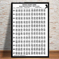Wholesale chord guitar resale online - Guitar Chord Poster Educational Guitar Chart Instrution Wall Art Picture Posters and Print for Home Decor Christmas Gifts