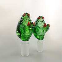 Wholesale snake head bowl 18mm for sale - Group buy 14mm And mm Joint Glass Bowl Snake Design Smoking Bowl Piece Head Colored Male Glass Bowl Herb Tobacco Glass Water Bongs Dab Rigs Smoking