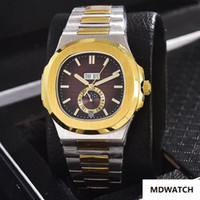 Wholesale mirror slides for sale - Group buy Men s stainless steel dial high strength glass mirror stainless steel automatic mechanical men s watch with sliding lock