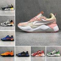 mavi sistemler toptan satış-Puma RS-X Reinvention Erkekler & Kadınlar üçlü s PUM RS-X Yenileme Rahat Ayakkabılar Sistemi Beyaz Siyah Mavi Kırmızı Sarı Baba Ayakkabı Atletik Moda Sneakers Koşu