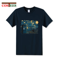 Wholesale brands clothes china for sale - Group buy 2019 design Starry Gallifrey T shirt men Funny DR Who Men s T shirt Adult apparel Cheap China brand clothing