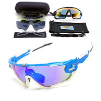 Wholesale cycling sunglasses interchangeable lenses resale online - Polarized Brand Cycling Sunglasses Racing Sport Cycling Glasses Mountain Bike Goggles Interchangeable Lens Outdoor Cycling Eyewear