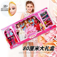 Wholesale barbie boxes for sale - Group buy Gift box family girl Barbie doll suit manual simulation exquisite evening dress Princess Barbie doll years old