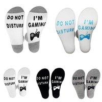 ich wärmer großhandel-Unisex 5 Farben Warme Socken Stören Nicht Ich Bin Gaming Brief Gedruckt Socken Für Frauen Männer