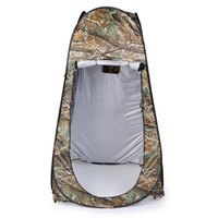 Wholesale bathroom game for sale - Group buy Outdoor Up Camouflage Tent T Camping Shower Bathroom Privacy Toilet Changing Room Shelter Single Moving Folding Tents