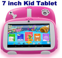 Wholesale tablet 7inch 8gb resale online - 2020 Inch New Cartoon Dog Kids Learning Tablet Pc Android Quad Core Installed Best gifts for Children Tablets Pc MB GB factory