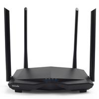 repetidor para wifi venda por atacado-Tenda Novo AC6 2.4G / 5.0 GHz Inteligente Dual Band AC1200 Roteador Wi-Fi Roteador Wi-Fi Sem Fio, APP Remote Gerenciar, Inglês Interface