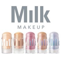 Wholesale foundation cream highlighter resale online - Milk Makeup Blur Stick Primer Foundation pc g Matte Luminous Blur Stick Highlighter Retail Holographic Stick Lippie Dropshipping Epacket