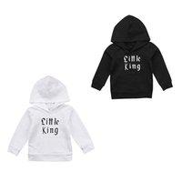kleinkindjunge 3t sweatshirt großhandel-2019 lässige kleinkind kinder baby boy mit kapuze tops sommer neue druck t-shirt sweatshirt oberbekleidung kleidung