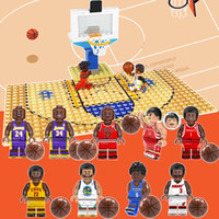 Wholesale building bricks base plate for sale - Group buy Newest Kobe Bryant LeBron James Stephen Curry Mini Toy Figure Basketball Court Base Plate Building Block Brick Toy for Boy