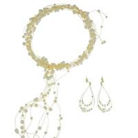 koreanisches einfaches hochzeitskleid großhandel-Der koreanische Perlenkopfschmuck der Braut, ein perlenbesetzter Ohrring, ein einfaches Halsband-Stirnband und ein wunderschönes Brautkleid-Kopfschmuck