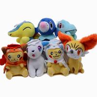Wholesale lapras toy resale online - 13CM Pocket Animals Plush Keychain Pikachu Bulbasaur Venusaur Slowbro Mew Ditto Lapras Dragonit Plush Doll Toy Kids Gift