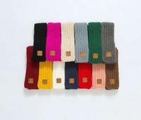 estola al por mayor-Versión coreana de bufanda caliente de punto para niños en otoño e invierno etiqueta de pieles para niños de color sólido lana bebé bufanda etiqueta para padres