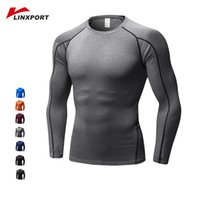 Wholesale plus size exercise clothes resale online - Men Gym Shirts Long Sleeve Plus Size Fitness Clothing Quick Dry Exercise Tights Running Sport Tops Tee Male Elastic Sportswear