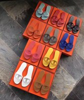 Wholesale ladies slippers for sale - Group buy 2019 Horse brand Designer Sandals fashion Women sandal Horse brand with orange box lady fashion sandals Mini slippers