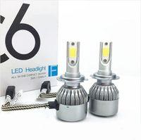 Wholesale blub lamp resale online - Super Bright W LM COB C6 H4 LED Headlight Blub H1 H3 H7 H8 H9 H11 Car Headlights Bulbs Lamps High Power