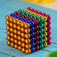 bola magnética 5mm al por mayor-2019 Nueva 5m m 216pcs / set Magnetic Puzzle cubo mágico Bucky Magcube Bloques cubo neo Balling con